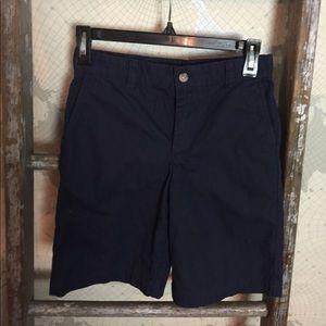 Vineyard Vines boys chino shorts 10 Navy EUC